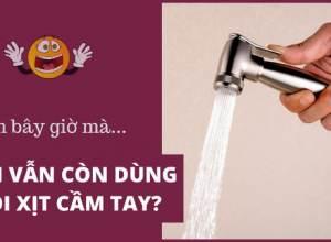 Làm sao để thay thế vòi xịt vệ sinh?